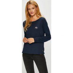 Roxy - Bluzka. Czarne bluzki damskie Roxy, z bawełny, casualowe, z okrągłym kołnierzem. W wyprzedaży za 119.90 zł.