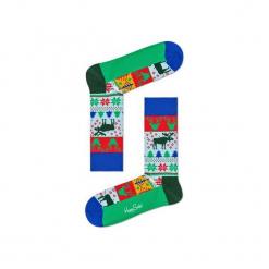 Skarpetki Happy Socks - Holiday XMAS (FAI01-7000). Szare skarpety męskie Happy Socks, w kolorowe wzory, z bawełny. Za 34.90 zł.
