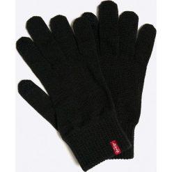 Levi's - Rękawiczki. Brązowe rękawiczki męskie Levi's, z dzianiny. W wyprzedaży za 59.90 zł.
