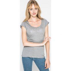 Guess Jeans - Koszulka piżamowa. Szare koszule nocne damskie Guess Jeans, z aplikacjami, z jeansu. W wyprzedaży za 69.90 zł.