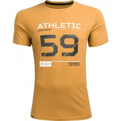T-shirt męski TSM620 - jasny brąz - Outhorn. Brązowe t-shirty męskie Outhorn, z bawełny. Za 39.99 zł.