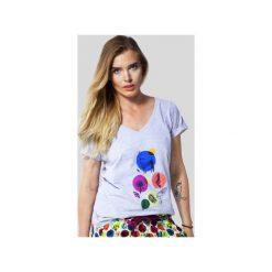 SAMBACA Forest Life - Tshirt. Szare t-shirty damskie Meet the llama, melanż, z bawełny. Za 89.00 zł.