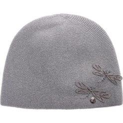 Szara czapka z filcowymi ważkami QUIOSQUE. Szare czapki i kapelusze damskie QUIOSQUE, z dzianiny. W wyprzedaży za 79.99 zł.
