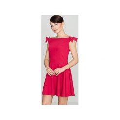 Sukienka K170 Czerwony. Czerwone sukienki damskie Lenitif, bez rękawów. Za 139.00 zł.