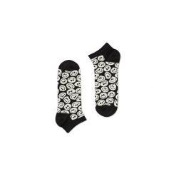 Skarpetki Happy Socks - Twisted Smile Low (TSM05-9000). Szare skarpety męskie Happy Socks, w kolorowe wzory, z bawełny. Za 27.90 zł.