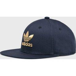 Adidas Originals - Czapka. Szare czapki i kapelusze damskie adidas Originals, z bawełny. Za 99.90 zł.