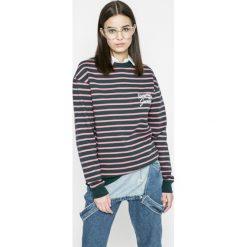 Tommy Jeans - Bluza. Szare bluzy damskie Tommy Jeans, z bawełny. W wyprzedaży za 219.90 zł.