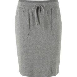 Spódnica ze stretchem i wiązanym paskiem bonprix szary melanż. Szare spódnice damskie bonprix, melanż. Za 37.99 zł.