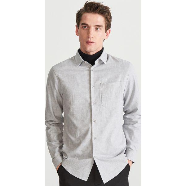 666c84f57 Bawełniana koszula slim fit - Jasny szar - Koszule męskie Reserved ...