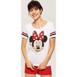 Koszulka piżamowa Minnie Mouse - Wielobarwn. Szare koszule nocne damskie House, z motywem z bajki. Za 35.99 zł.