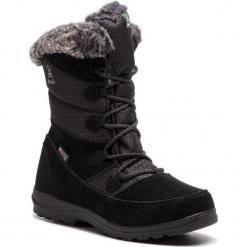 Śniegowce KAMIK - Polarfox WK2155 Black. Czarne kozaki damskie Kamik, z materiału. Za 429.00 zł.