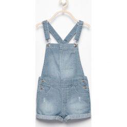 Jeansowe szorty ogrodniczki - Niebieski. Spodenki dla dziewczynek Reserved, z jeansu. W wyprzedaży za 29.99 zł.