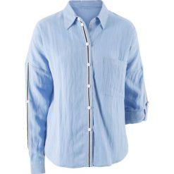 Bluzka z kolekcji Maite Kelly bonprix perłowy niebieski. Niebieskie bluzki damskie bonprix. Za 49.99 zł.