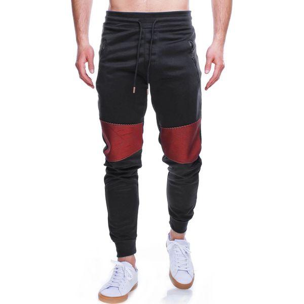Spodnie męskie dresowe czarne Recea