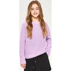 Sweter ze sznurowaniem na plecach - Fioletowy. Swetry damskie marki bonprix. W wyprzedaży za 19.99 zł.