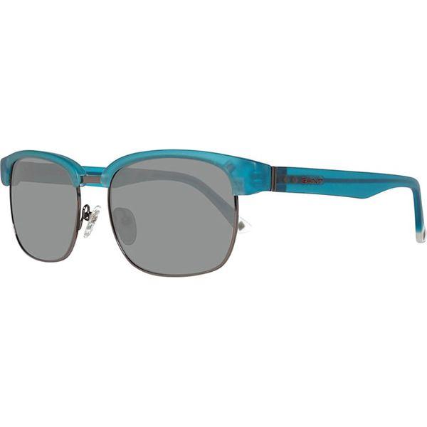 dbf780cf6596 Okulary Męskie W Kolorze Błękitno Szarym Okulary Przeciwsłoneczne