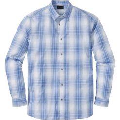 Koszula z długim rękawem, w kratę Regular Fit bonprix niebiesko-biały w kratę. Koszule męskie marki Giacomo Conti. Za 37.99 zł.