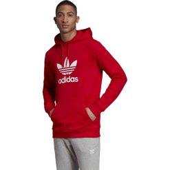 Czerwone bluzy męskie Adidas, bez kaptura Kolekcja zima