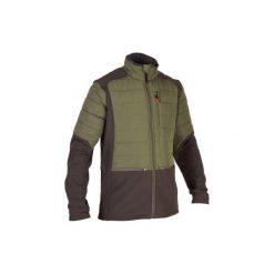Kurtka SG500 HYBRID. Brązowe kurtki męskie SOLOGNAC, z tkaniny. Za 149.99 zł.