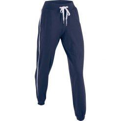 Spodnie sportowe, długie, Level 1 bonprix ciemnoniebieski. Niebieskie spodnie dresowe damskie bonprix, w paski. Za 74.99 zł.