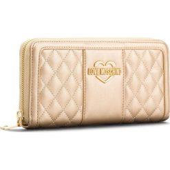 Duży Portfel Damski LOVE MOSCHINO - JC5512PP16LB0901  Oro. Żółte portfele damskie Love Moschino, ze skóry ekologicznej. W wyprzedaży za 339.00 zł.