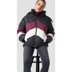 NA-KD Trend Kurtka watowana Block - Black,Multicolor. Czarne kurtki damskie NA-KD Trend, w kolorowe wzory, z materiału. Za 323.95 zł.