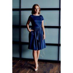Sukienka Melia granatowa z krótkim rękawem (petite) 32. Sukienki damskie marki DOMYOS. W wyprzedaży za 235.90 zł.