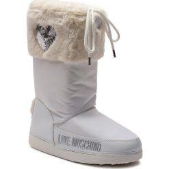 Śniegowce LOVE MOSCHINO - JA24062G06JM0100 Bianco. Białe kozaki damskie Love Moschino, z materiału. Za 659.00 zł.