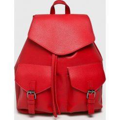 Pieces - Plecak Tyler. Czerwone plecaki damskie Pieces, ze skóry ekologicznej. W wyprzedaży za 139.90 zł.