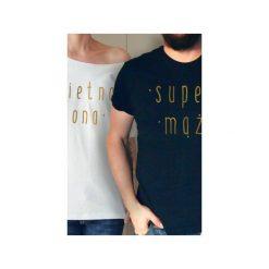 Świetna żona super mąż koszulki tshirt dla pary. Czarne koszule nocne damskie One mug a day. Za 165.00 zł.