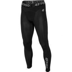 Bielizna baselayer 4FPro SPMF403 - głęboka czerń  allover. Czarna spodnie sportowe męskie 4f, z jersey. Za 129.99 zł.