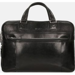 Czarna torba męska. Czarne torby na laptopa męskie Kazar, w paski, ze skóry. Za 949.00 zł.