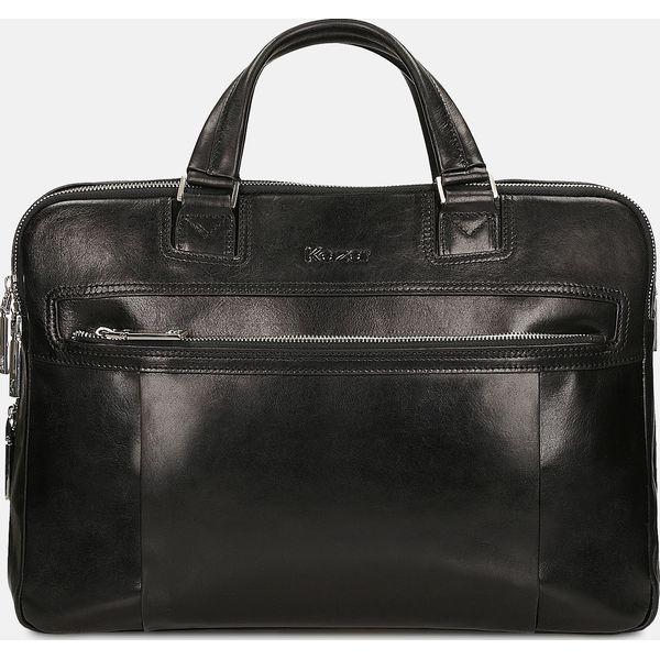 2362f20fcb1f4 Czarna torba męska - Torby na laptopa męskie marki Kazar. Za 949.00 ...