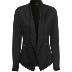 Żakiet shirtowy bonprix czarny. Czarne żakiety damskie bonprix. Za 149.99 zł.
