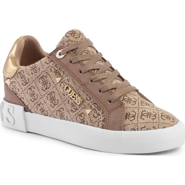 Sneakersy GUESS Puxly2 FL5P2X FAL12 BEIGEBROWN