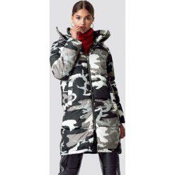 NA-KD Długa kurtka moro z ociepleniem - Grey,Multicolor. Szare kurtki damskie NA-KD, moro, z jeansu. Za 323.95 zł.