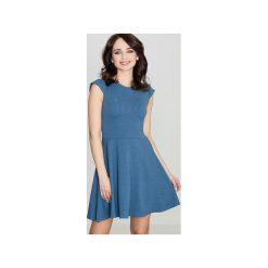 Sukienka K162 Niebieski. Niebieskie sukienki damskie Lenitif. Za 129.00 zł.