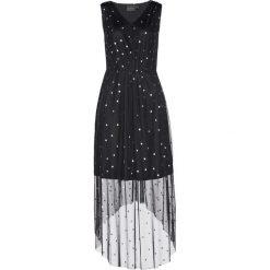 Sukienka siatkowa z nadrukiem bonprix czarno-srebrny z nadrukiem. Czarne sukienki damskie bonprix, z nadrukiem. Za 139.99 zł.