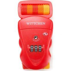 Pas zabezpieczający z zamkiem 56-30-013-30. Brązowe walizki damskie Wittchen, w paski, z materiału. Za 69.00 zł.