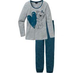 Piżama bonprix niebieskozielony z nadrukiem. Piżamy damskie marki bonprix. Za 69.99 zł.