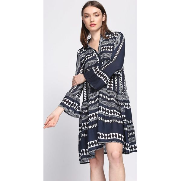 fc9dbf1f1d Granatowa Sukienka Commendable - Niebieskie sukienki damskie marki ...