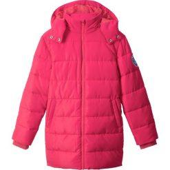 Parka zimowa bonprix różowy hibiskus. Kurtki i płaszcze dla dziewczynek marki Giacomo Conti. Za 99.99 zł.