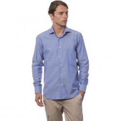 Koszula w kolorze niebieskim. Niebieskie koszule męskie Roberto Cavalli, Trussardi, z klasycznym kołnierzykiem. W wyprzedaży za 219.95 zł.