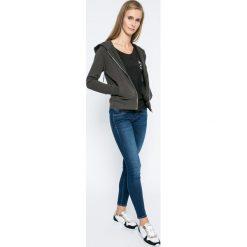 Roxy - Bluzka. Czarne bluzki damskie Roxy, z bawełny, casualowe, z okrągłym kołnierzem. W wyprzedaży za 89.90 zł.