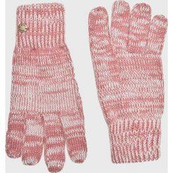 Roxy - Rękawiczki. Czerwone rękawiczki damskie Roxy, z dzianiny. W wyprzedaży za 69.90 zł.
