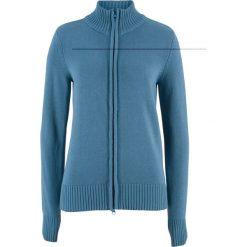 Sweter rozpinany bonprix niebieski dżins. Niebieskie kardigany damskie marki Lemoniade, ze splotem. Za 74.99 zł.
