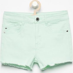 Szorty z postrzępionymi nogawkami - Zielony. Spodenki dla dziewczynek marki bonprix. W wyprzedaży za 29.99 zł.