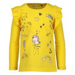 Blue Seven Bluzka Dziewczęca 104 Żółta. Niebieskie bluzki dla dziewczynek Blue Seven, z bawełny, z falbankami. Za 52.00 zł.