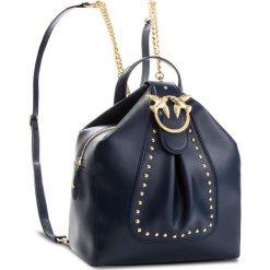 Plecak PINKO - Alkan Vitello Seta Al 18-19 1P2171 Y4YM Blu Iride. Niebieskie plecaki damskie Pinko, ze skóry. Za 1,599.00 zł.