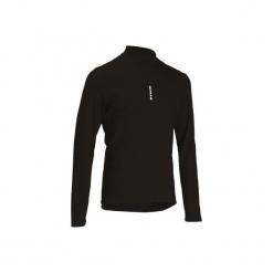 Koszulka długi rękaw na rower ROADCYCLING 100 męska. Czarne koszulki sportowe męskie B'TWIN, na jesień, z elastanu, z długim rękawem. Za 39.99 zł.